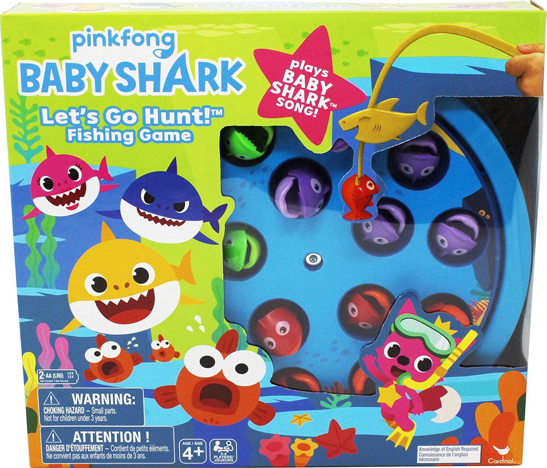 Games Baby Shark Juego de Mesa Vamos a Pescar