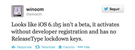 iOS 6.1 Beta 5