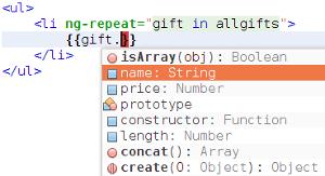 AngularJS completado de código