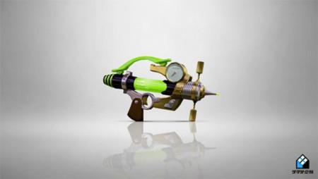 El día de hoy llega una nueva arma a Splatoon, la Splash-o-matic!