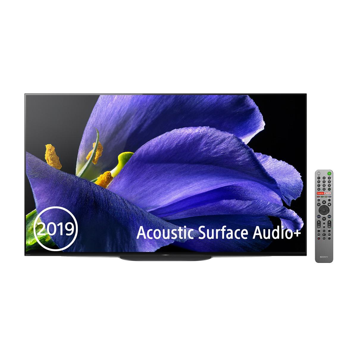 Sumérgente en el negro absoluto de la tecnología OLED con este televisor de 65 pulgadas con tecnología de sonido Acoustic Surface Audio+ y Android TV.