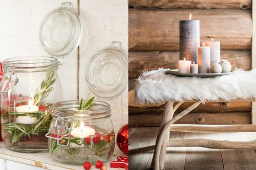 17 ideas para decorar la casa con velas en esta Navidad