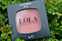 Probamos el colorete 006 de Lola Make Up