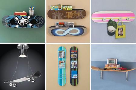 decorando con tablas de skate - varios