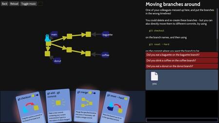 Aprende a programar colaborativamente con Git jugando a 'Oh My Git!', un videojuego libre al que tú mismo puedes contribuir