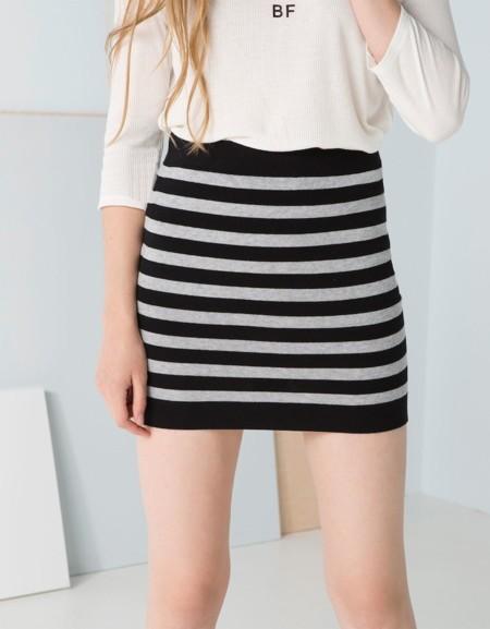 Minifalda Bsk Rayas Rebajas
