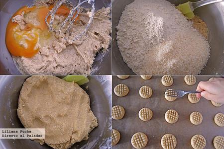 Galletas de azúcar moreno al aroma de azahar y coco. Pasos