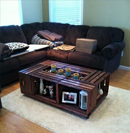 17 mesas de centro en madera que te van a sorprender - Mesas de madera hechas a mano ...