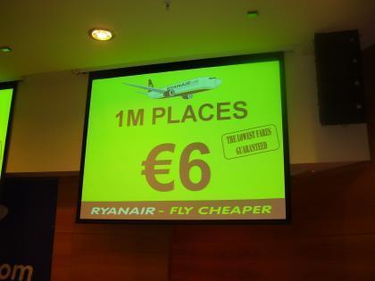 1 millón de plazas a 6 euros con Ryanair