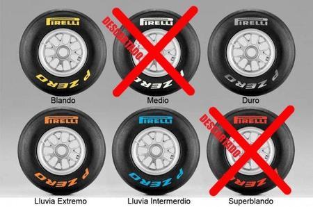 GP de Gran Bretaña F1 2011: compuestos elegidos por Pirelli