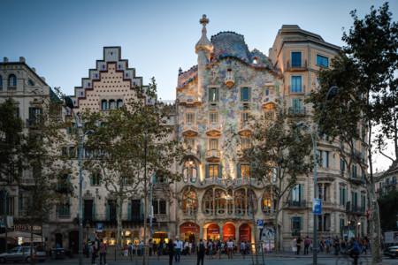 Casa Batllo Overview Barcelona Spain