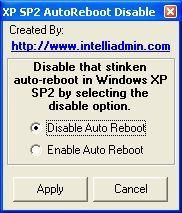 Deshabilitar el recordatorio de reinicio en Windows XP