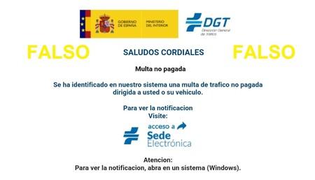 La DGT avisa: los intentos de estafa por phishing vuelven a la carga usando las multas como anzuelo
