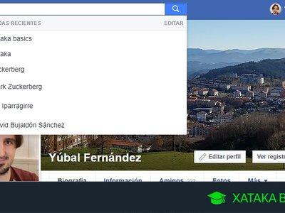 Cómo borrar el historial de tus búsquedas en Facebook