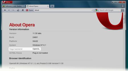 Opera ya soporta aceleración 3D por hardware y WebGL en todos los sistemas operativos