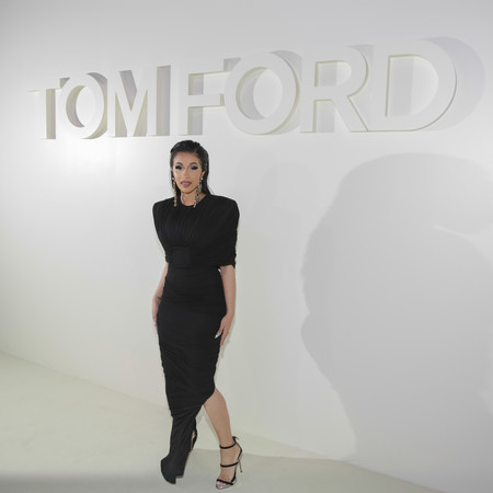 tom ford desfile ss 2019 frontrow cardi b