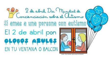 Globos azules para el Día Mundial de Concienciación sobre el Autismo
