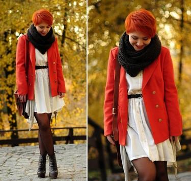 Moda en la calle: color en los abrigos