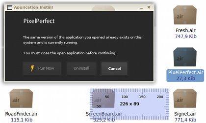 Adobe Air - Ejecutar aplicación