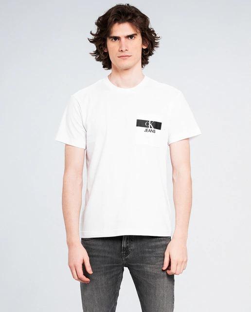 Camiseta de hombre en algodón orgánico blanca de manga corta