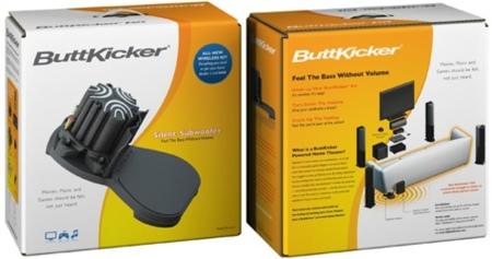 ButtKicker Wireless Home Theater Kit, vibración sin sonido