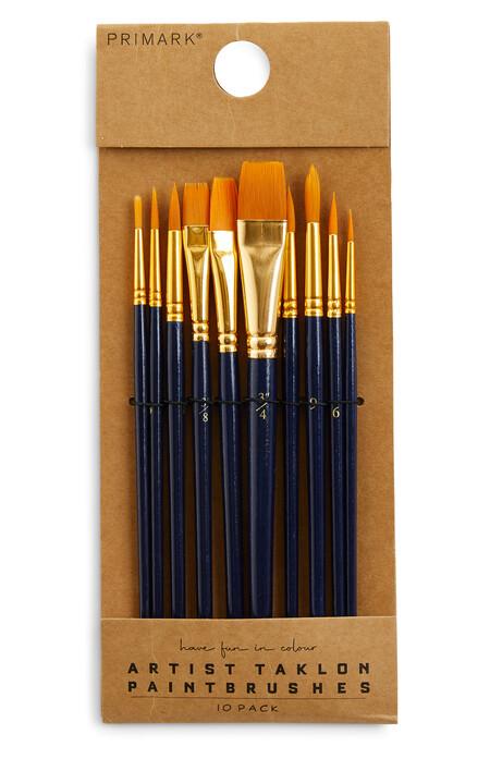 Artist Taklon Paint Brush Set 10 Pack Gbp3 50 Eur4