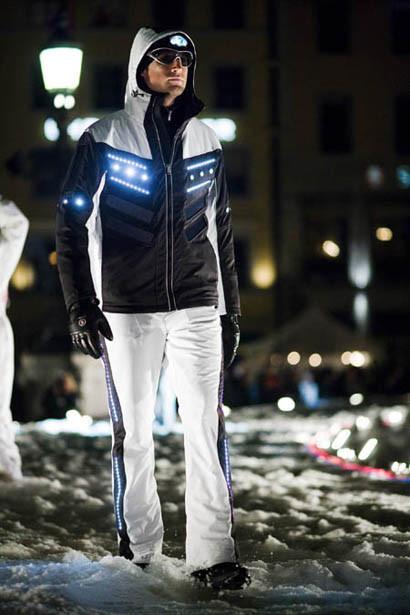 chaqueta solar LED