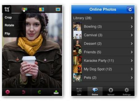 Photshop mobile interfaz