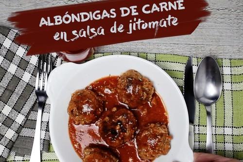 Albóndigas de carne en salsa de jitomate. Receta en video