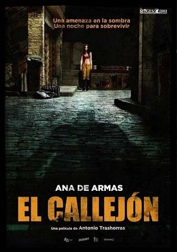 Imagen con el cartel de 'El callejón'