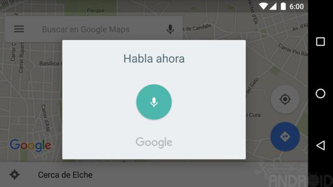 Maps voice