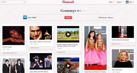 USA Today utiliza Pinterest para cubrir los premios Grammy