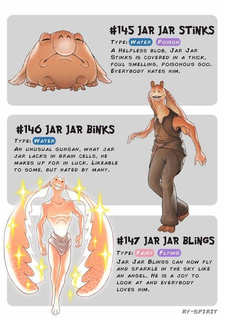 Pokemon Star Wars Jar Jar Binks