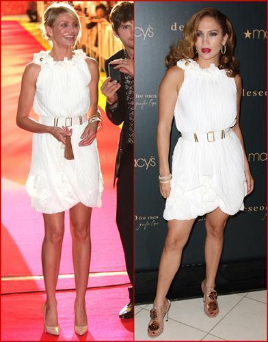 Vestido de Fendi ¿Jennifer Lopez o Cameron Diaz?