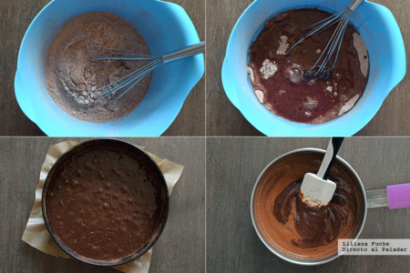 Pastel de Chocolate y Vino. Pasos
