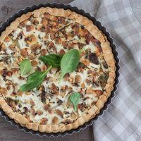 Torta con champiñones y ricotta: receta vegetariana par una cena diferente
