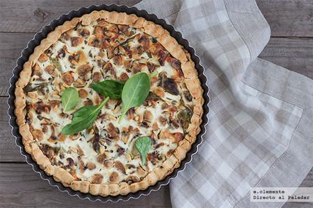 Torta con champiñones y ricotta: receta vegetariana para una cena diferente