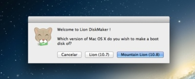 Lion DiskMaker, crear una unidad de arranque con OS X Lion o Mountain Lion