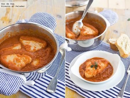 Bonito fish with tomato