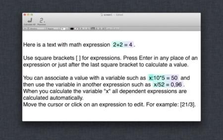 Escribiendo fórmulas en el texto gracias a Expresso