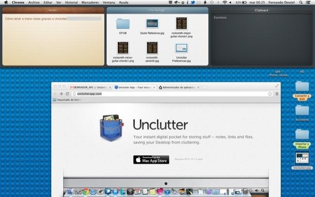 Unclutter puede ayudarnos mucho a ser más ordenados sin renunciar a tener todo a mano