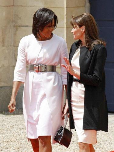 Michelle Obama y  Carla Bruni D Day