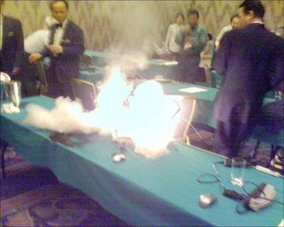 Portátil Dell ardiendo