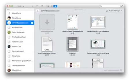 Unibox, cliente de correo para OS X