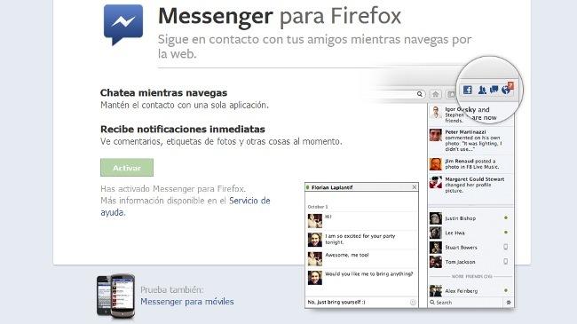 Página de Facebook donde se activa la integración con Facebook