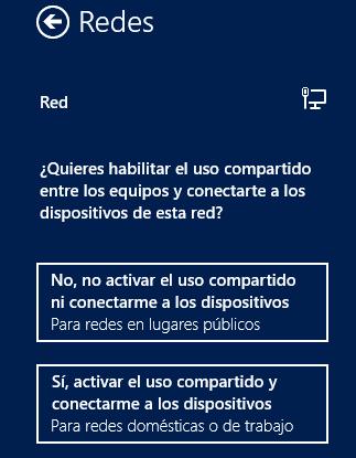 Opciones de uso compartido