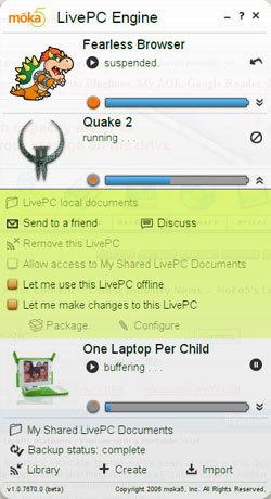 Moka5 LivePC, virtualización desde un disco USB