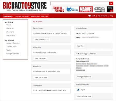 Cómo comprar en BigBadToyStore en México