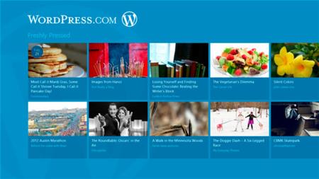 Aplicación de WordPress para Windows 8