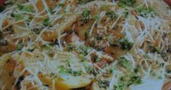 Patatas gratinadas con setas y panceta